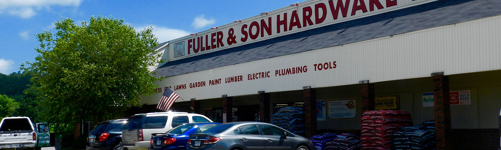 Fuller and Son Hardware Storefront with Parking